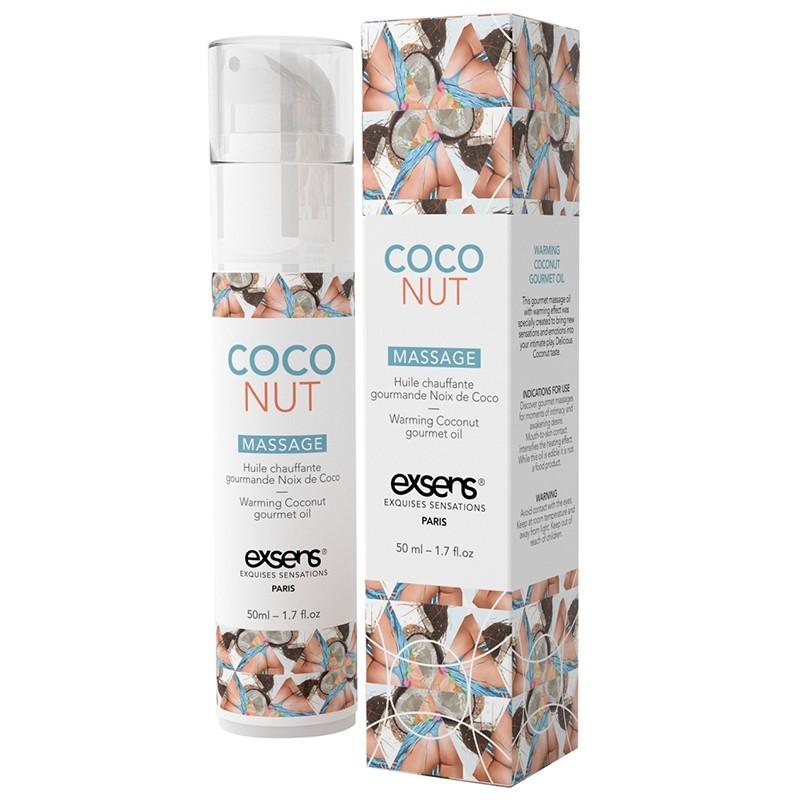 EXSENS Huile de massage chauffante Gourmande Noix de Coco 50 mL