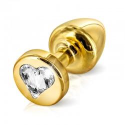 DIOGOL Rosebud Anal ANNI forme de coeur, T2 (30mm), doré